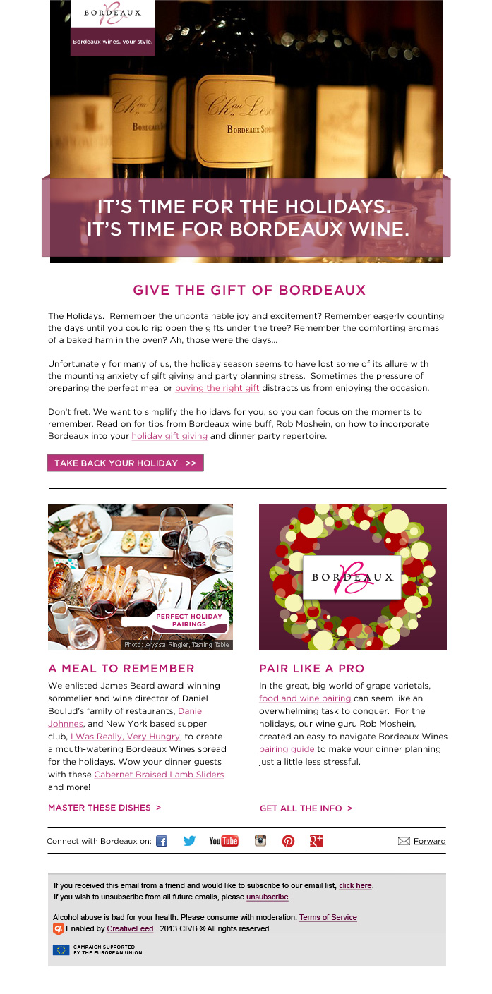 Bordeaux Wines Email